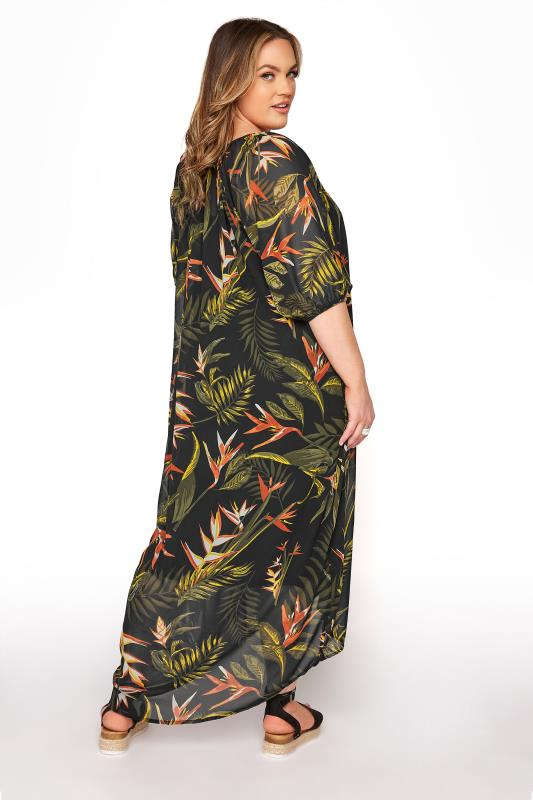 LIMITED COLLECTION Black Tropical Print Dress_C.jpg