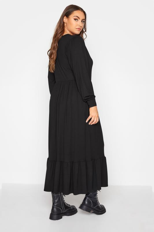 LIMITED COLLECTION Black Smock Midi Dress_C.jpg