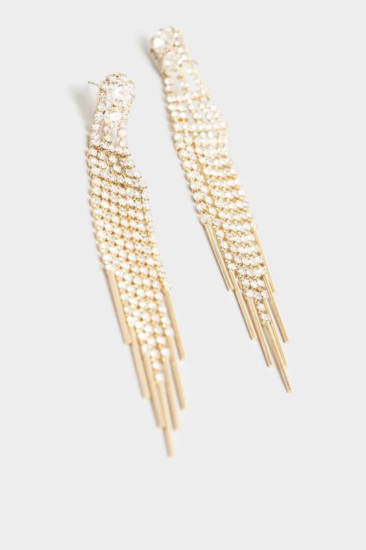 Gold Diamante Tassel Long Earrings_D.jpg