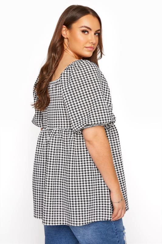 LIMITED COLLECTION Black Gingham Milkmaid Top_C.jpg