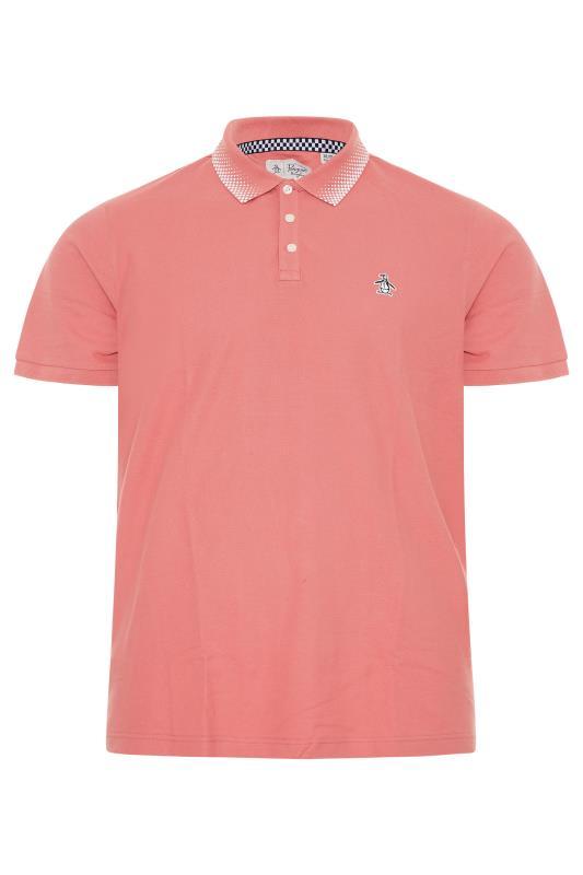 Plus Size  PENGUIN MUNSINGWEAR Dusty Pink Checkered Collar Polo Shirt