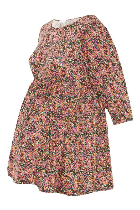 BUMP IT UP MATERNITY Multi Ditsy Print Belted Top_F.jpg