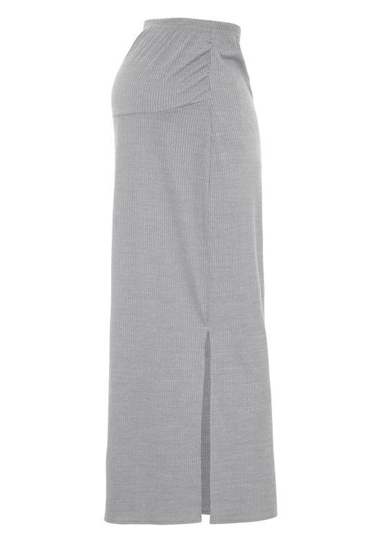LTS Maternity Grey Ribbed Maxi Skirt_F.jpg