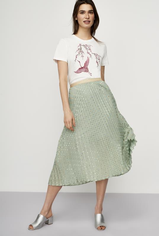 Y.A.S Tall Snowa Spot Pleated Skirt