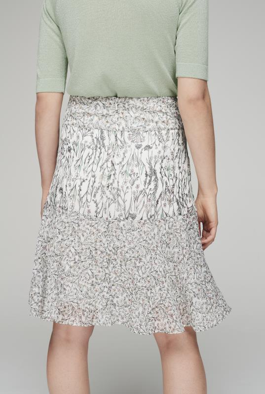 Tiered Floral Mixed Print Skirt