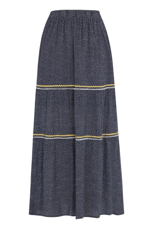Mini Ditsy Tiered Maxi Skirt