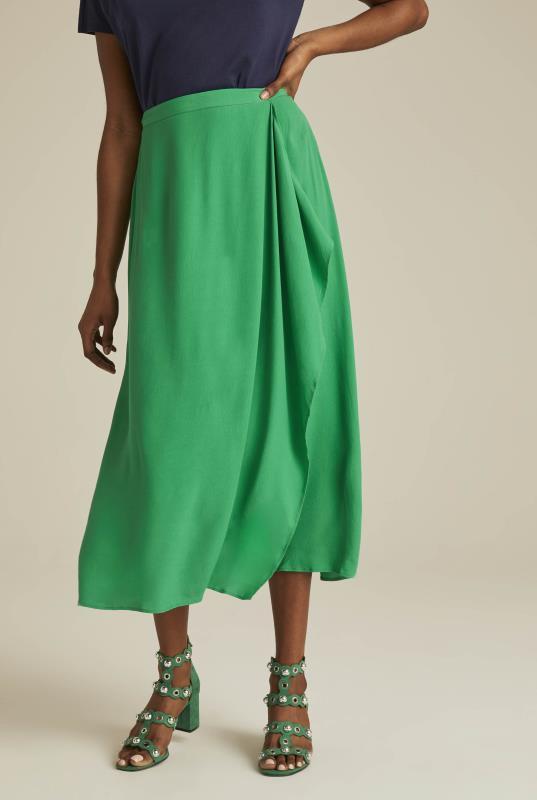 Tall Skirts Crepe Waterfall Midi Skirt