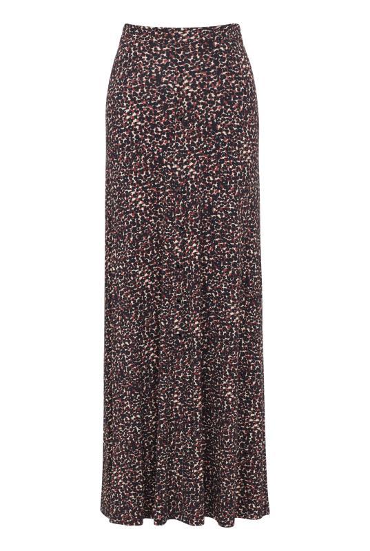 Button Front Jersey Maxi Skirt