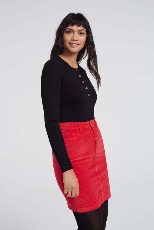 5 Pocket Corduroy Mini Skirt
