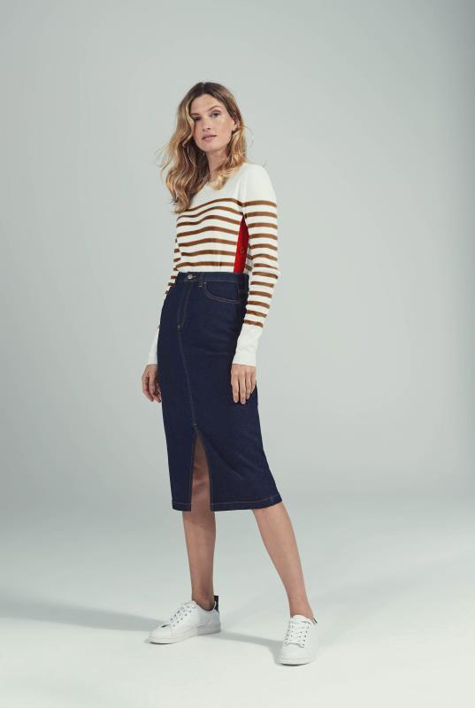 Tall Skirts Indigo Front Slit Denim Skirt