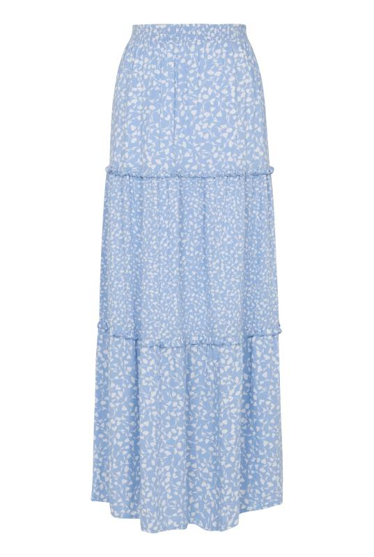Floral Print Tiered Woven Maxi Skirt