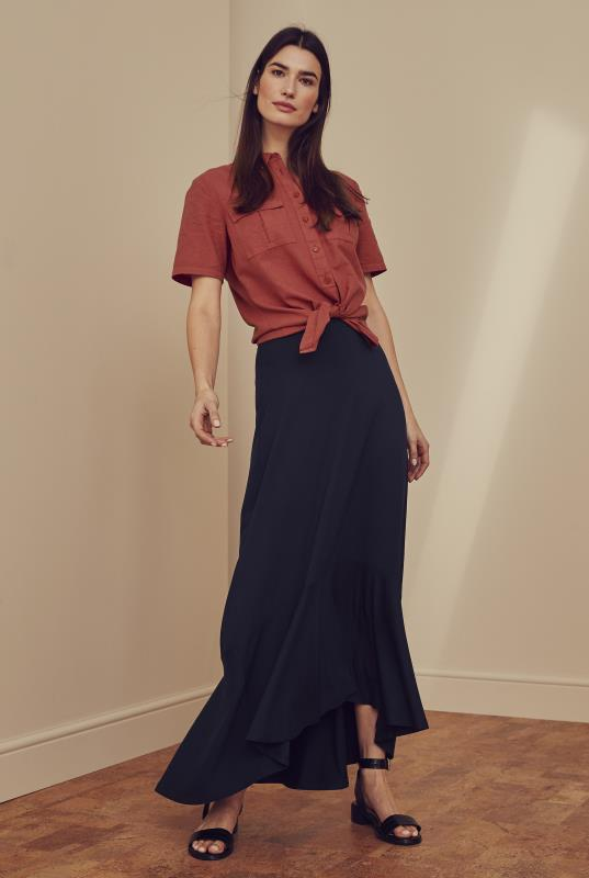 Tall Skirts Tiered Midi Jersey Skirt