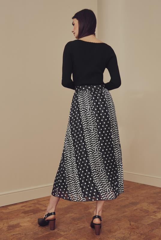 Tall Skirts Spot Print Jacquard Chiffon Pleated Skirt