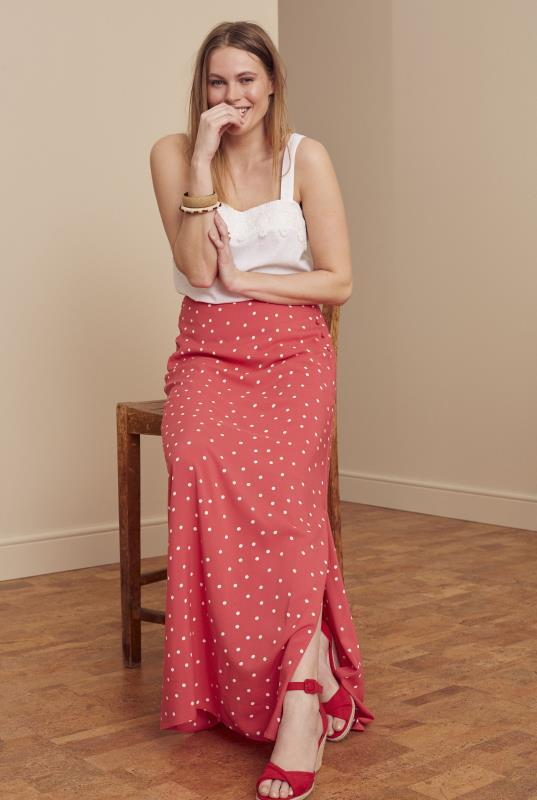 Tall Skirts Printed Button Side Maxi Skirt