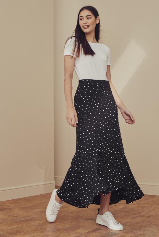Tall Skirts Spot Print Tiered Jersey Skirt