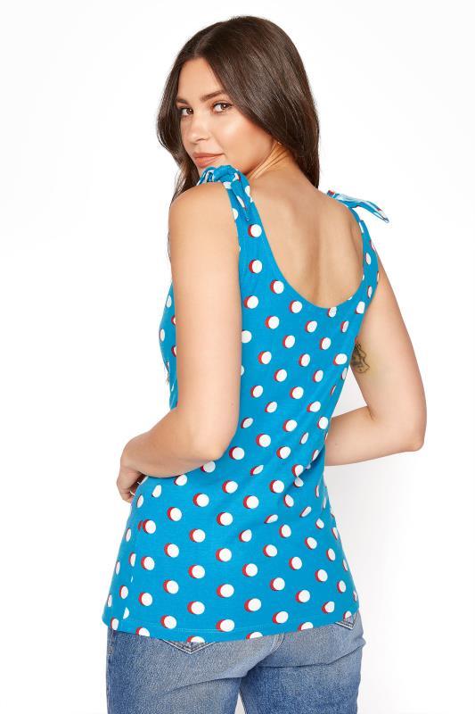 Blue Polka Dot Tie Shoulder Vest Top_C.jpg