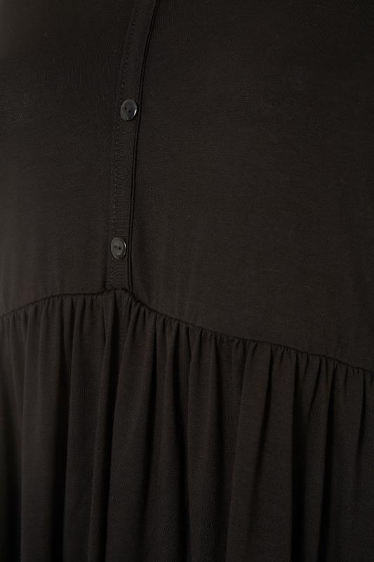 LIMITED COLLECTION Black Button Placket Peplum Top_S.jpg