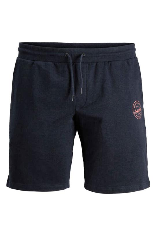 Plus Size  JACK & JONES Navy Shark Logo Jogger Shorts