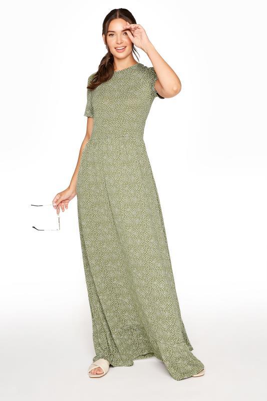 LTS Green Ditsy Floral Tiered Midaxi Dress_B.jpg