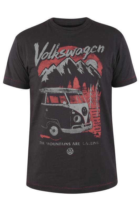 Plus Size  D555 Dark Charcoal Official Volkswagen T-Shirt