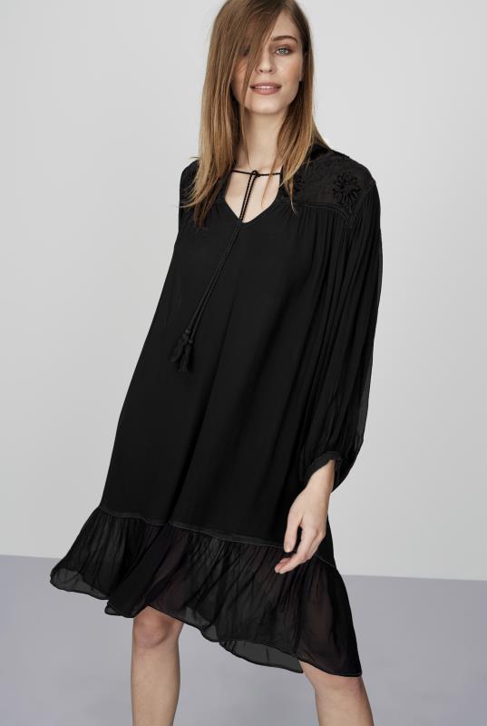 Tall Swing Dress CURATD. x LTS Embroidered Frill Detail Dress