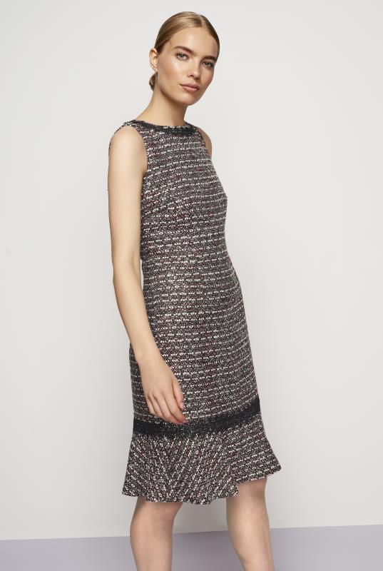 KARL LAGERFELD Grey Multi Tweed Dress
