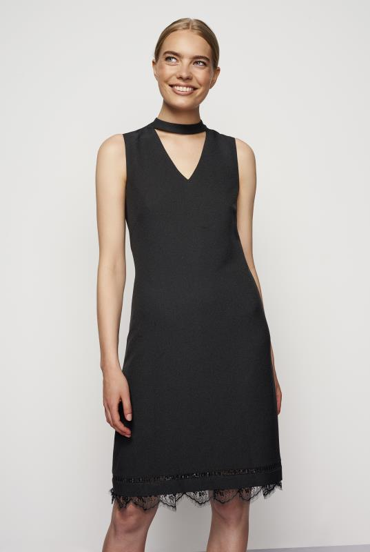 Karl Lagerfeld Choker and Lace Trim Dress