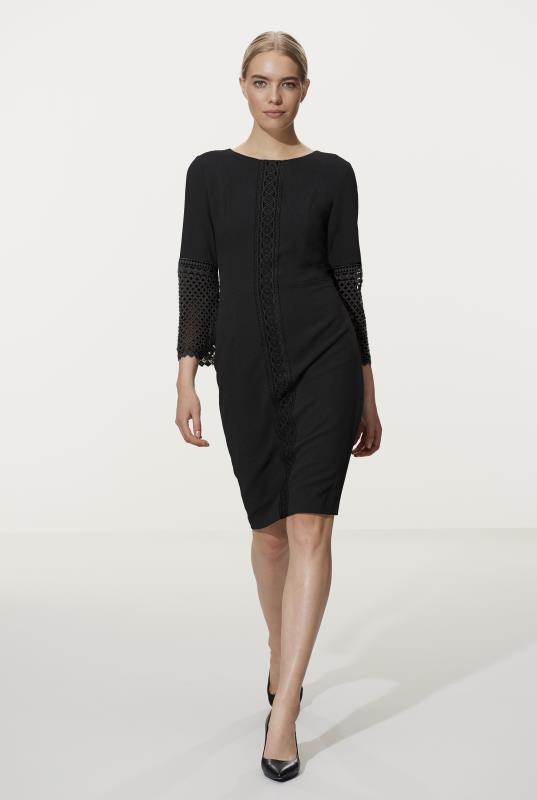 Karl Lagerfeld Paris Lace Sleeve Dress