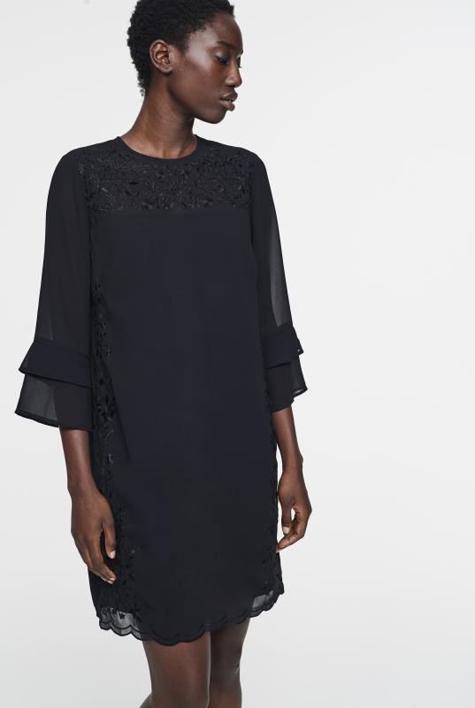 Tall Straight Dress CURATD. x LTS Black Embroidered Dress