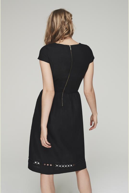 Linen Cut Out Dress