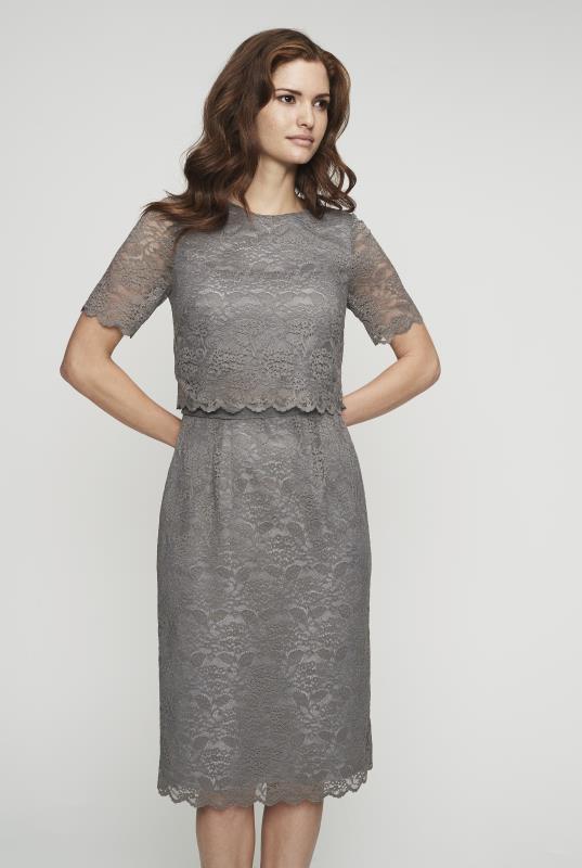 Lace Pop Over Shift Dress