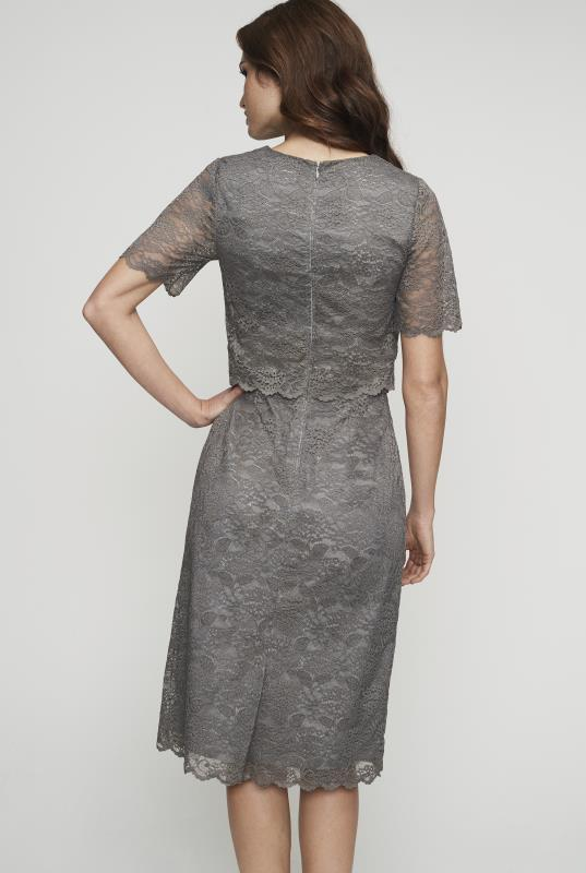 Lace Pop Over Shift Dress