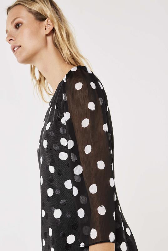Karl Lagerfeld Paris Sheer Sleeve Dress
