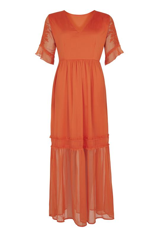 Tall Straight Dress Y.A.S Tall Orange Field Embroidered Maxi Dress