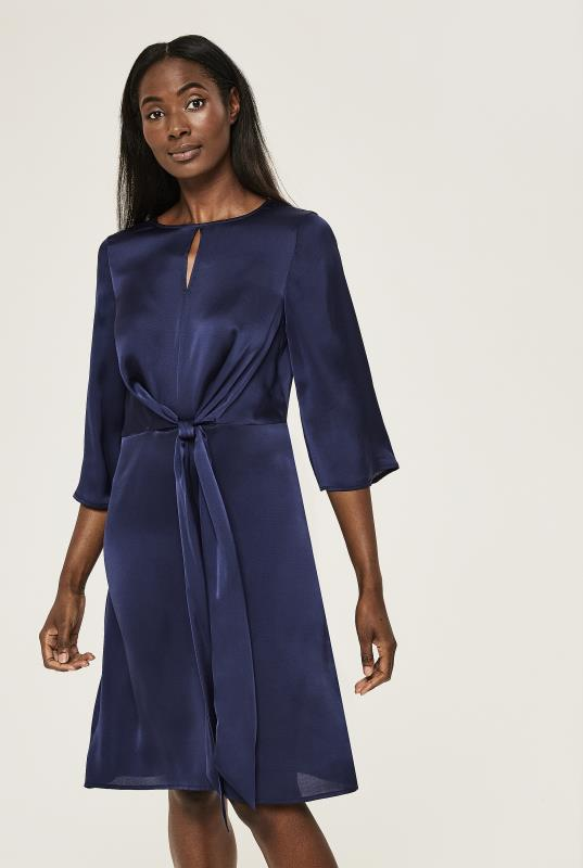 Tall Tunic Dress Tie Front Dress