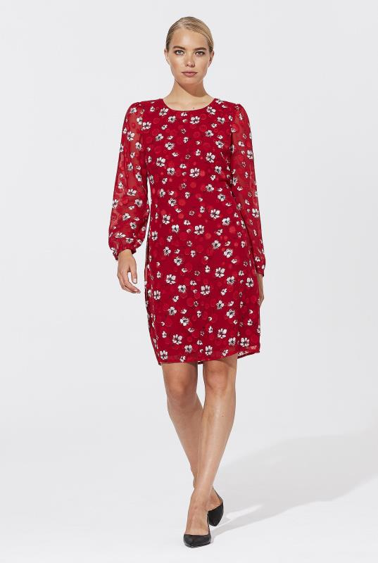 Karl Lagerfeld Paris Jacquard Floral Dress