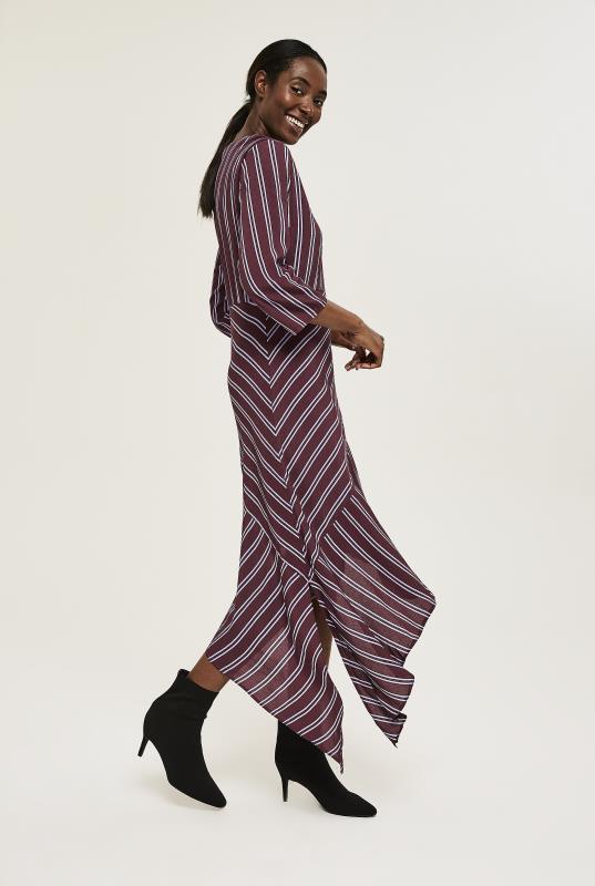 Y.A.S Tall Burgundy Stripe Dress