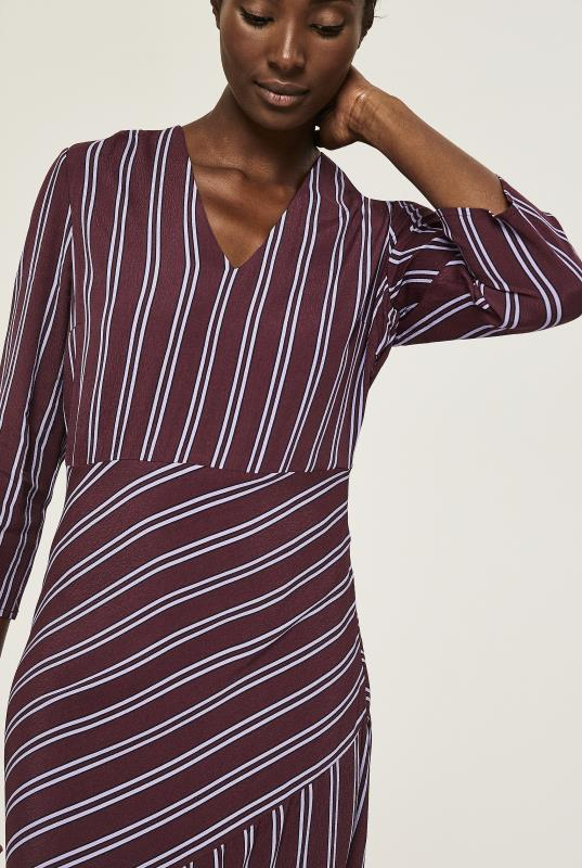 Y.A.S Tall Burgundy Stripe Dress