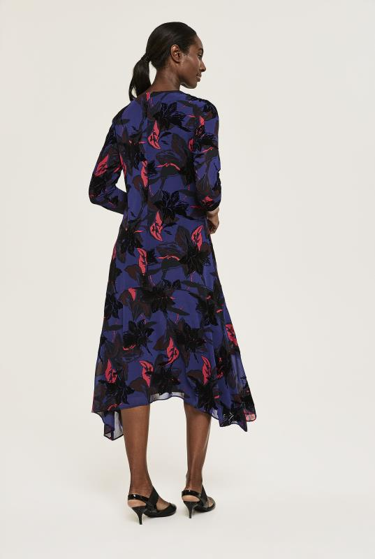 Y.A.S Tall Blue Floral Print Maryllis Midi Dress