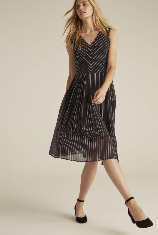 Tall Aline Dress Chevron Stripe Soft A-Line Dress