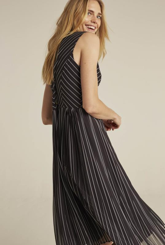 Black Chevron Stripe Soft A-Line Dress