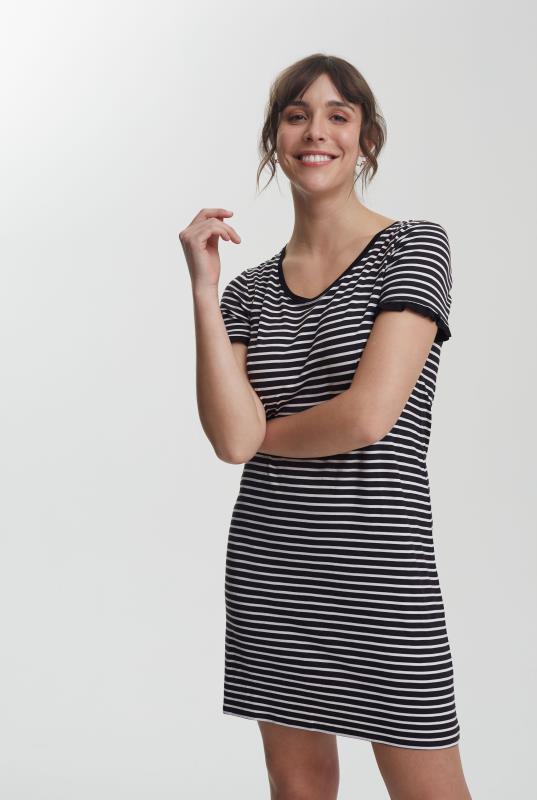 Tall Tunic Dress Frill Sleeve Mini Jersey Dress