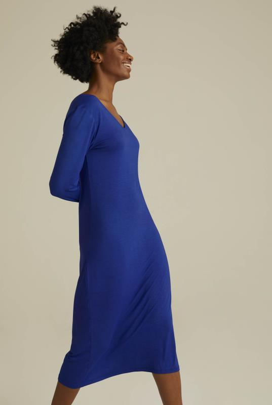 Cross Back Jersey Midi Dress