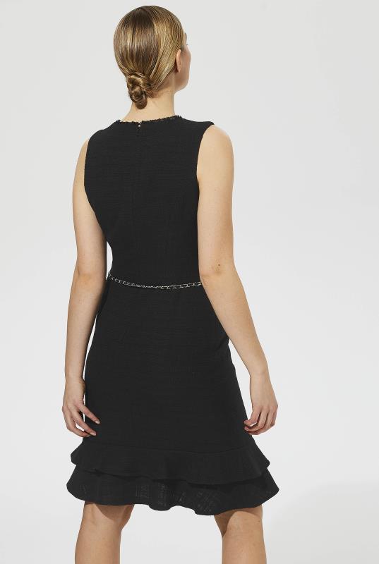 Karl Lagerfeld Paris Flippy Tweed Belted Dress