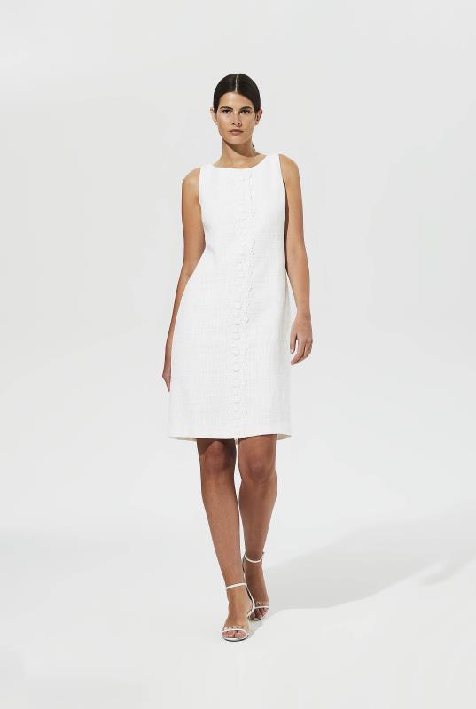 Tall Shift Dress Karl Lagerfeld Paris Lace Front Tweed Shift Dress