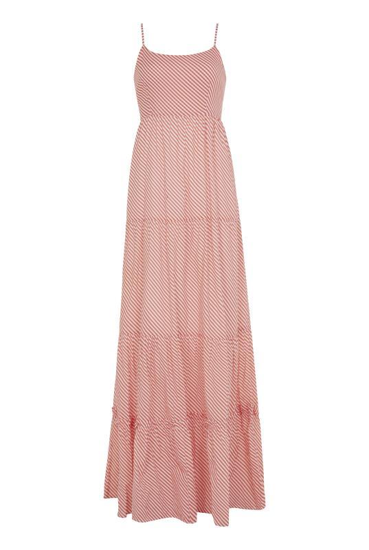 Orange Striped Cotton Day Maxi Dress