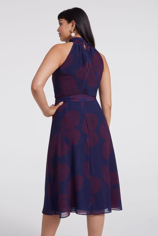Butterfly Print Halterneck Dress