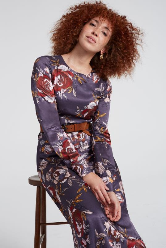 Large Floral Fit and Flare Dress