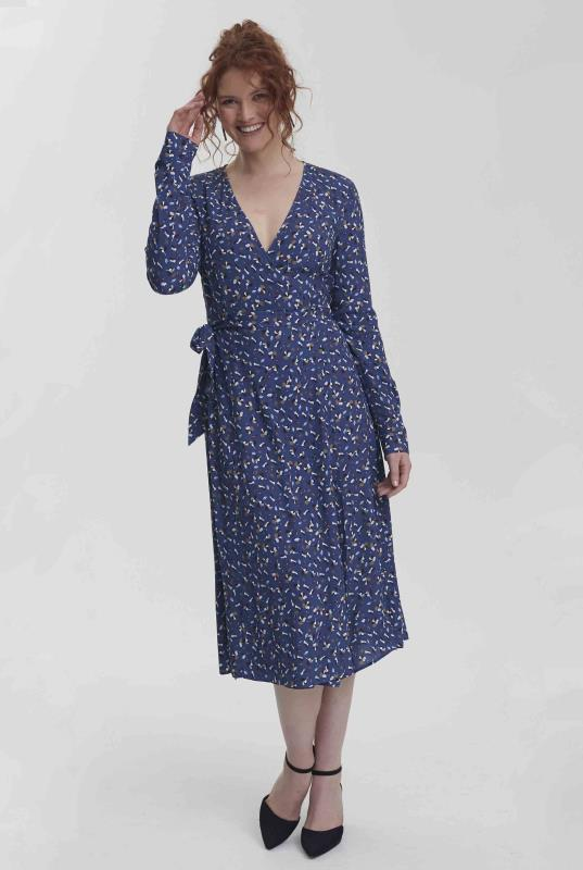 Blue Modern Ditsy Wrap Midi Dress_2.jpg