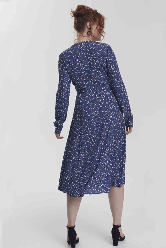 Blue Modern Ditsy Wrap Midi Dress_3.jpg